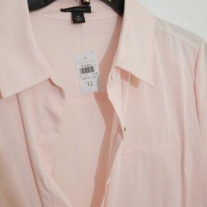 NWT- Ann Taylor Retro pink flirty dress